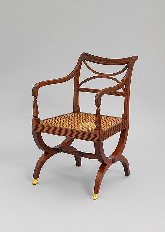 Armchair  Attributed to Duncan Phyfe & Son  (1770–1854) #GISSLER #interiordesign