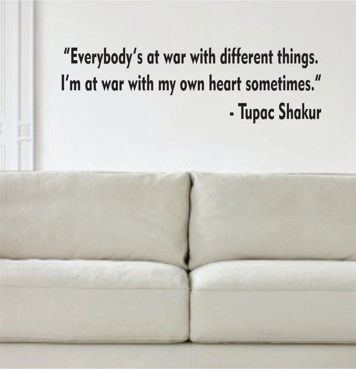 Tupac Shakur Everybodys At War Quote Decal Sticker Wall Vinyl Art Music by BoopDecals on Etsy https://www.etsy.com/listing/171860180/tupac-shakur-everybodys-at-war-quote