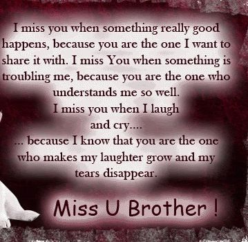Top 100 I Miss You Brother Quotes From Sister Paulcong