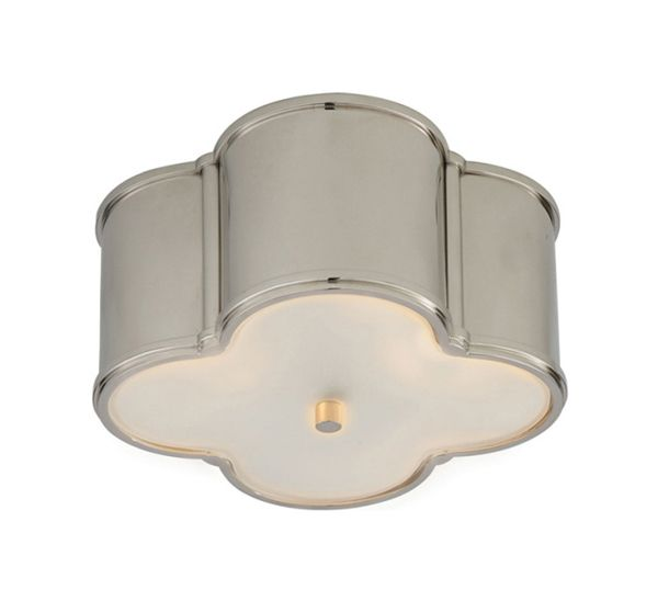 Small Basil Flush Mount With Frosted Glass