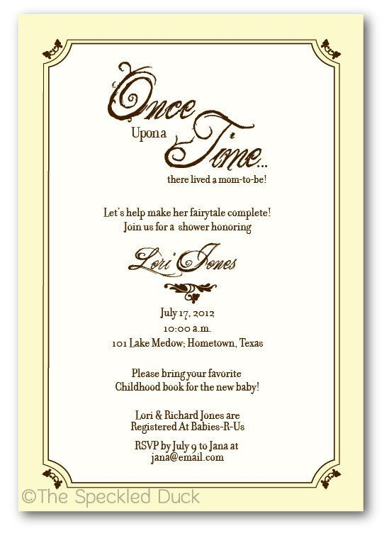 Elegant Cool Once Upon A Time Baby Shower Invitations