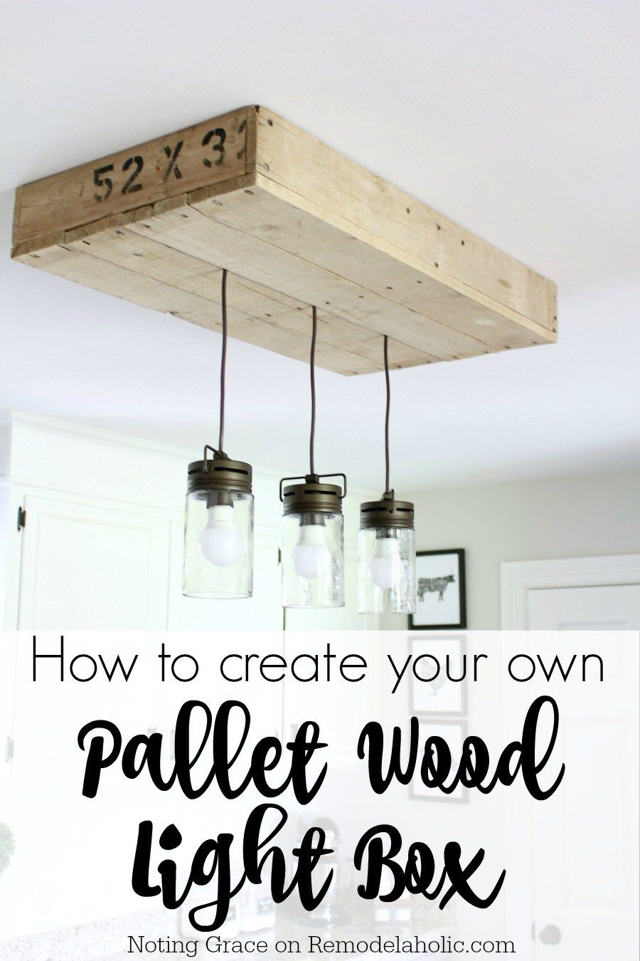 Diy Pallet Wood Light Box Noting Grace