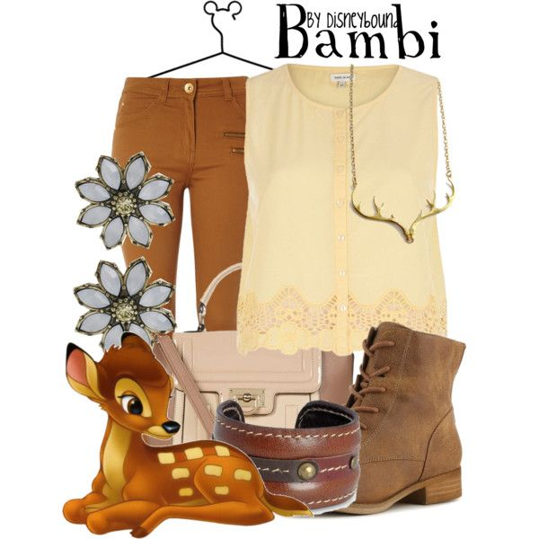 Bambi by anniereigel on Polyvore featuring River Island, Crown Vintage, NOVICA, Betsey Johnson and Disney