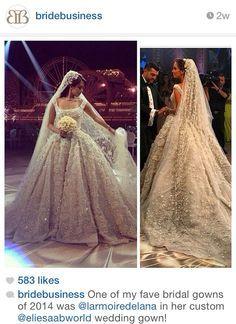 WEDDING DRESSES: Elie Saab dress