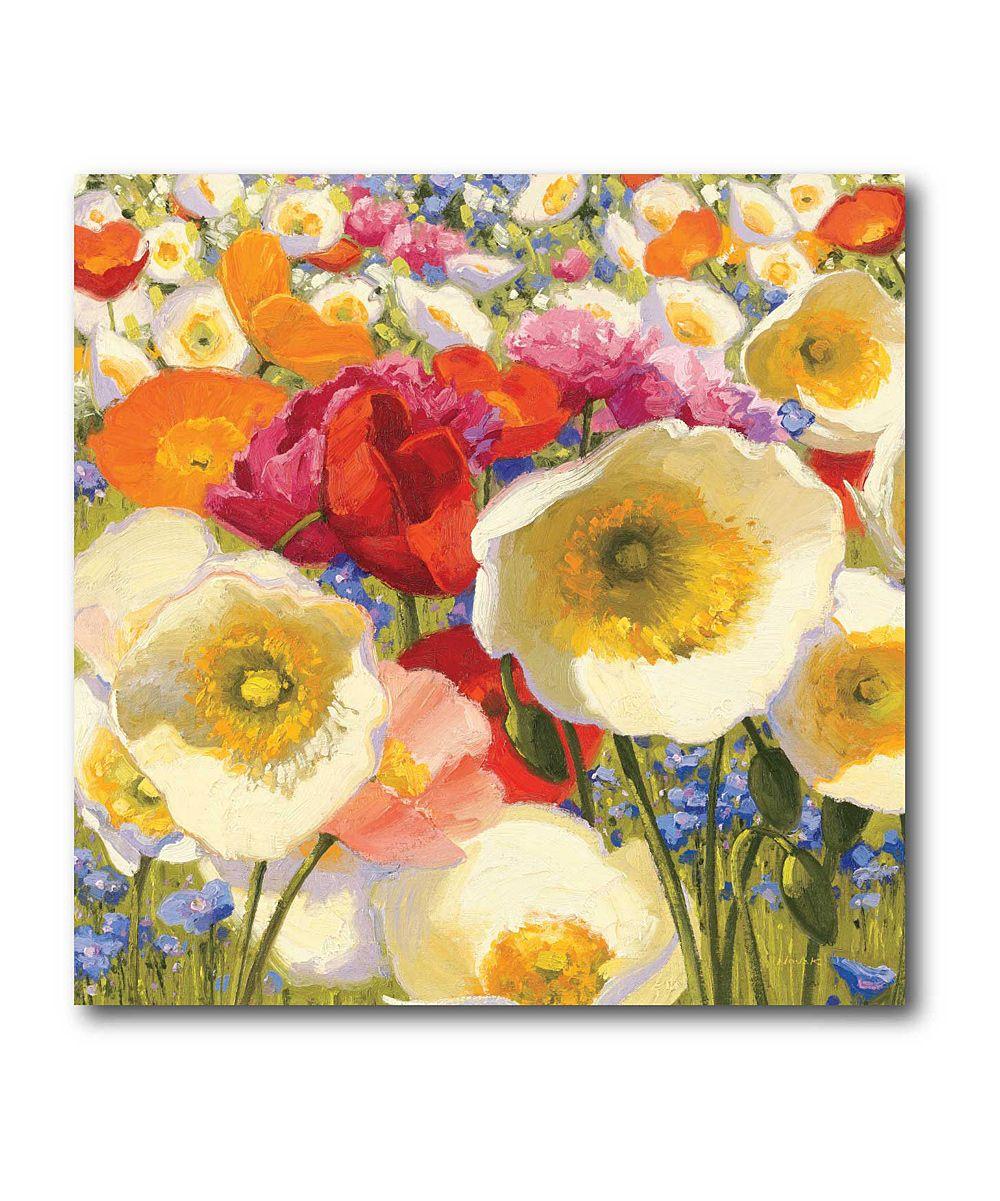 White & Pink Meadow Flowers Canvas | Art | Pinterest | Meadow ...