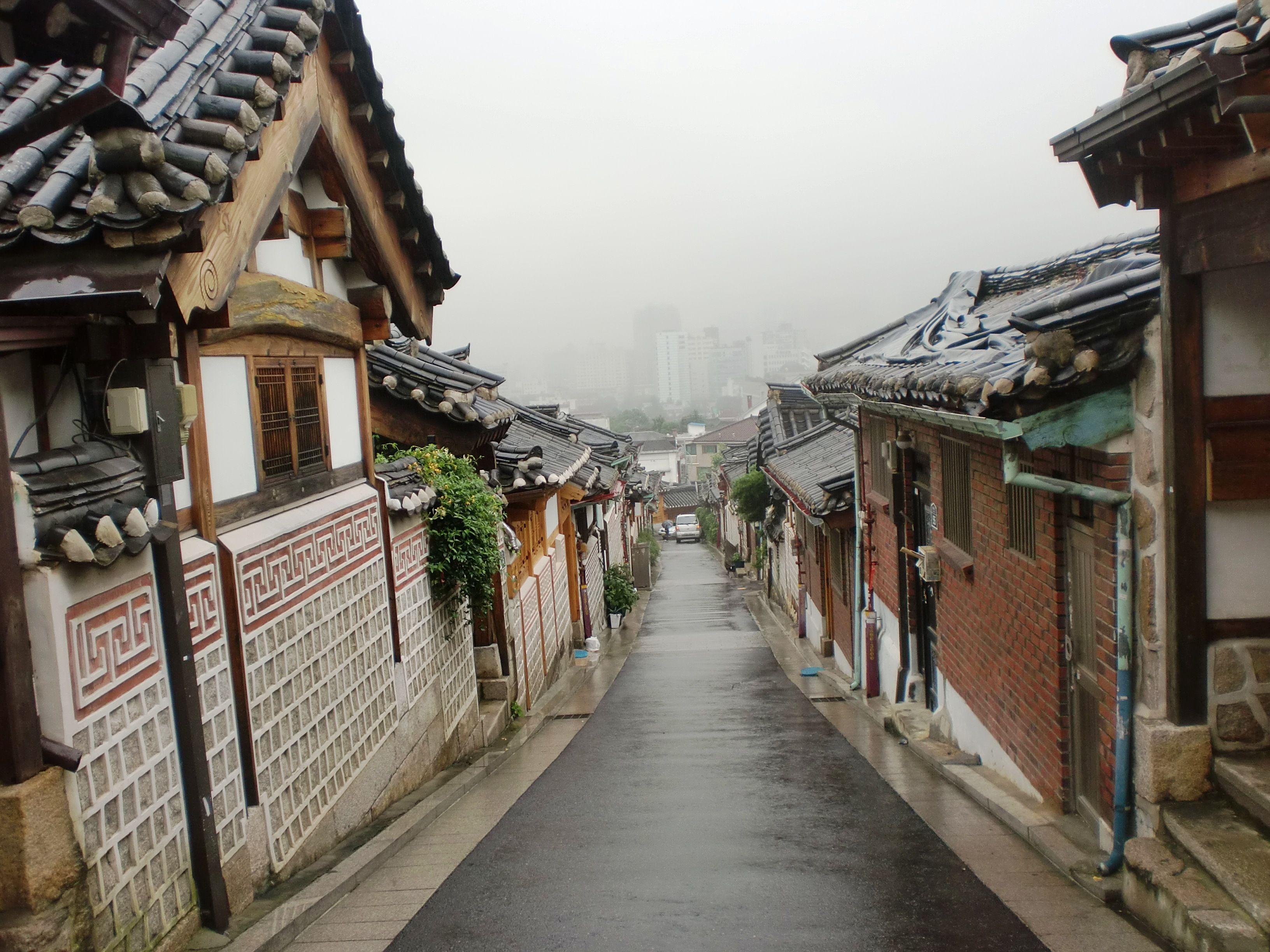 Bukchon hanok village gye dong jongno gu seoul south korea · modern housessouth