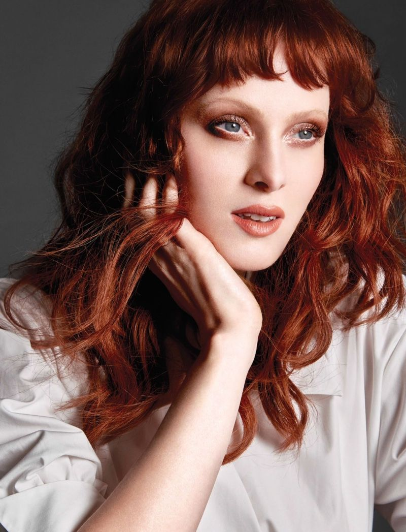 Karen elson impresses in fendi style for bazaar singapore makeup