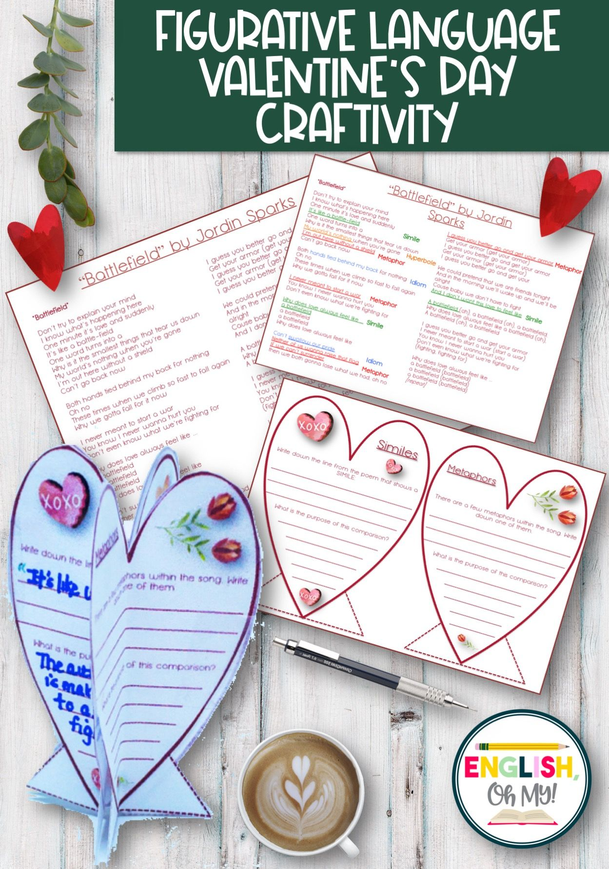 Valentine S Activity For Middle School English
