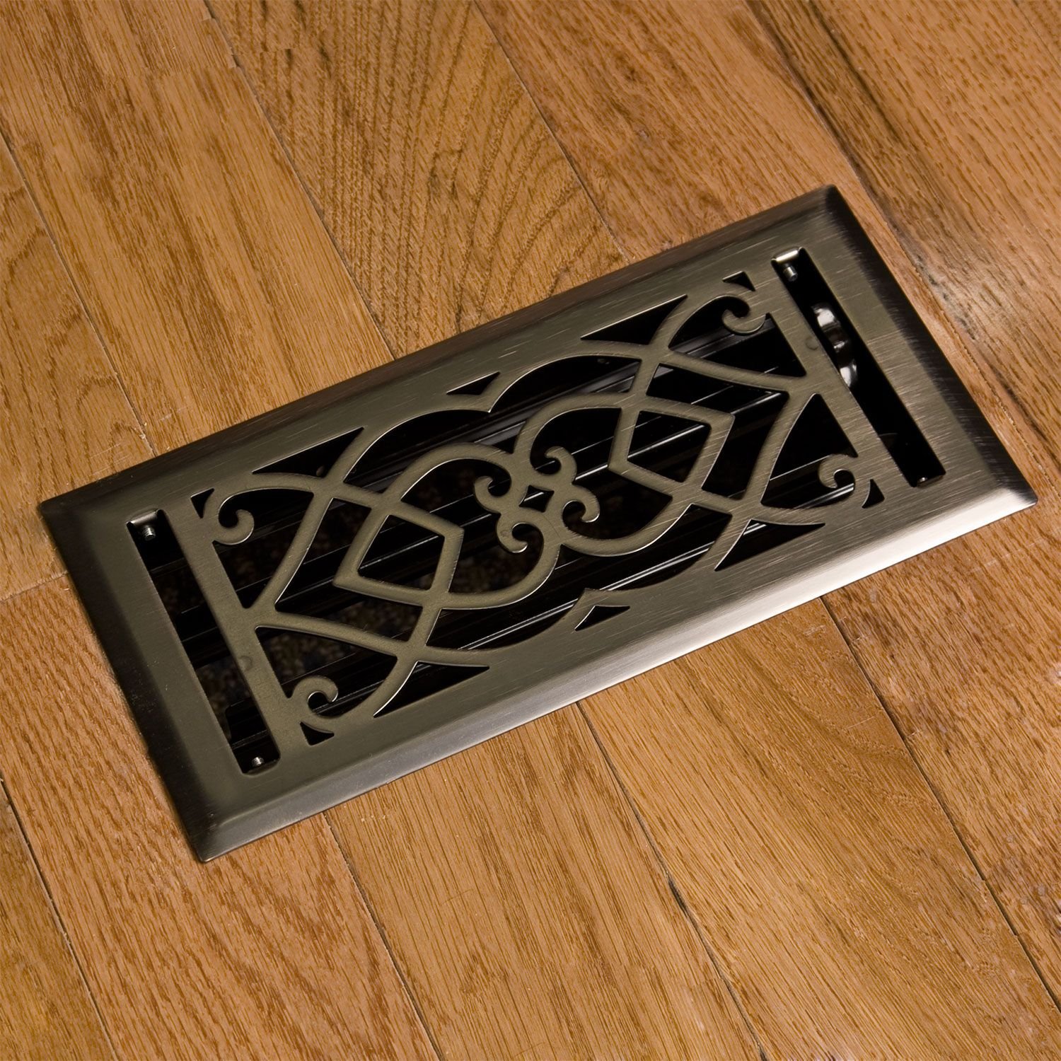 Heavy Duty Victorian Steel Floor Register With Louvers 22 95 In White 33 Oil Rubbed Bronze