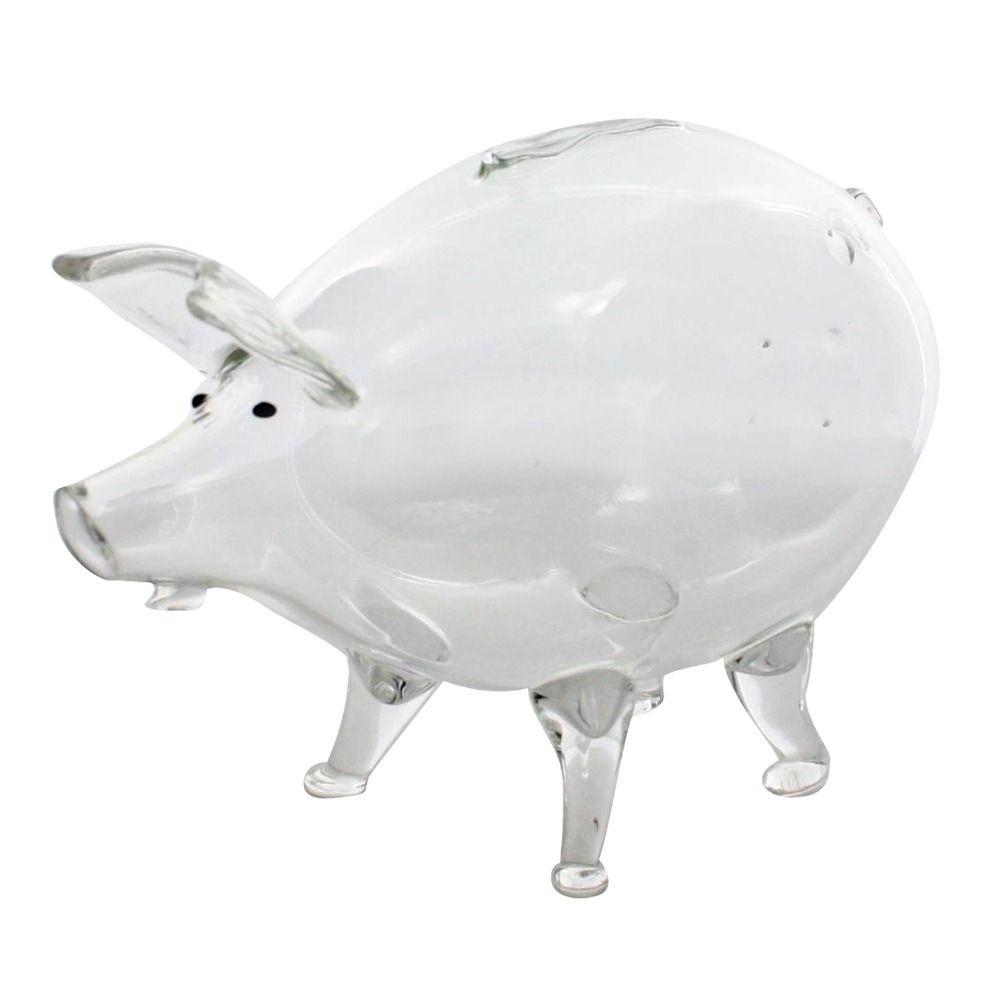 Glass Piggy Back - HomArt - $22.00 - domino.com