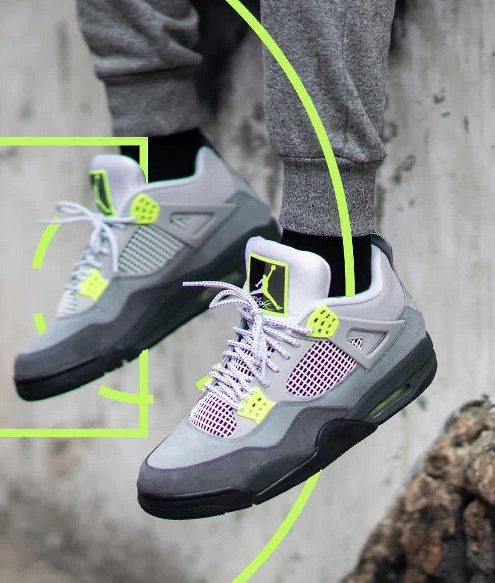 Air Jordan 4 Retro 95 Neon Sale Price 175 Retail 225 Free Shipping Use Code Get50 At Checkout In 2020 Air Jordans Jordan 4 Jordans