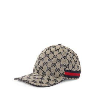 Gucci Femme - Chapeaux   Gants. Casquette en toile GG originale avec bande  Web 007c15a9b28