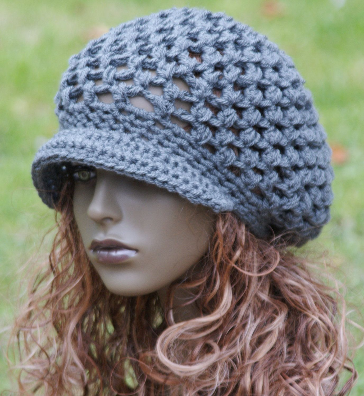 PDF Newsboy Slouchy Beanie Hat Pattern Crocheted Pattern Only. $5.25 ...