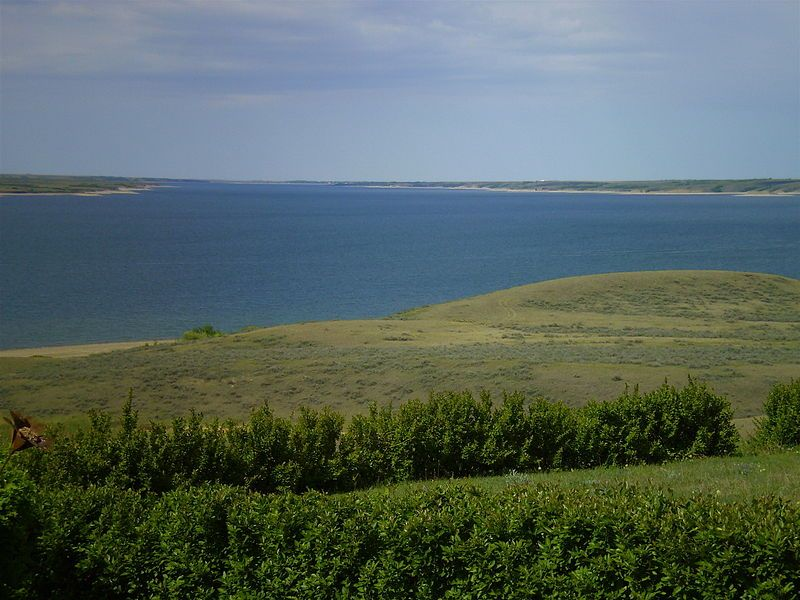 Lake Diefenbaker A Reservoir And Bifurcation Lake In Southern