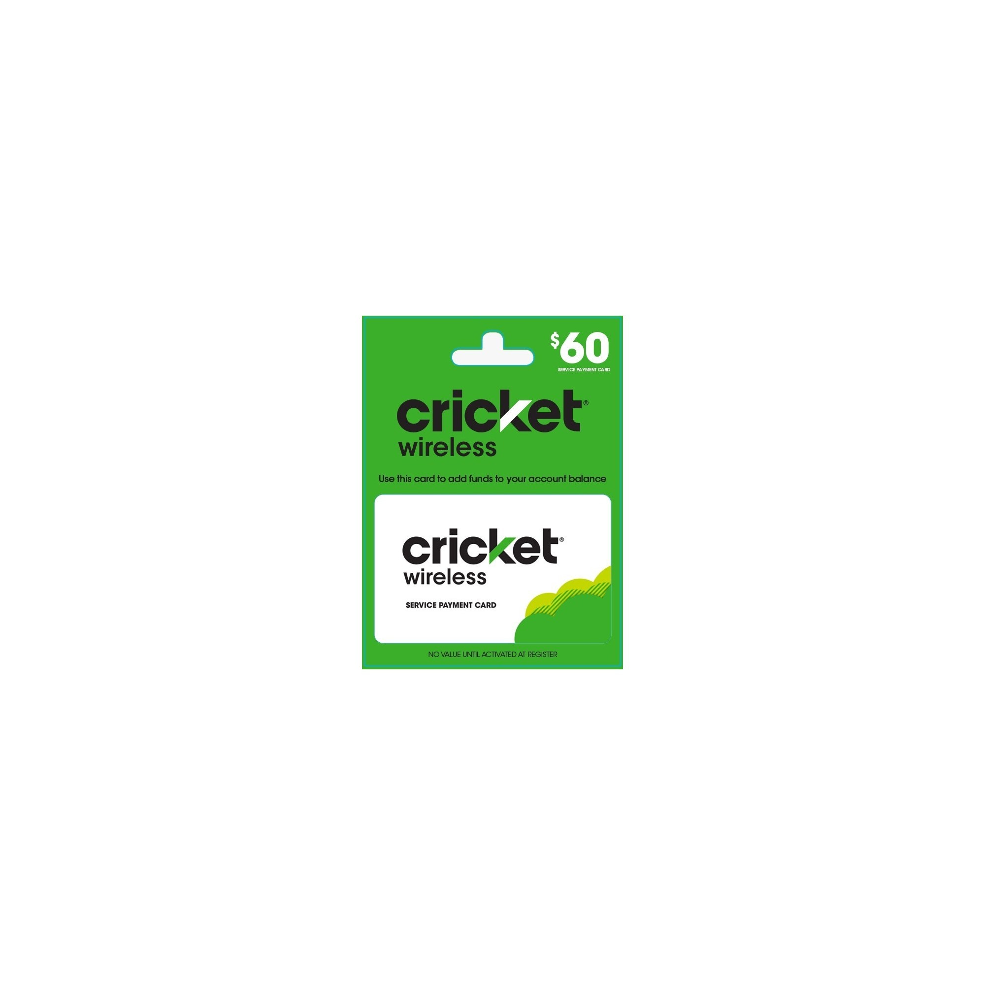 Cricket Wireless Refill 60 Email Delivery Products