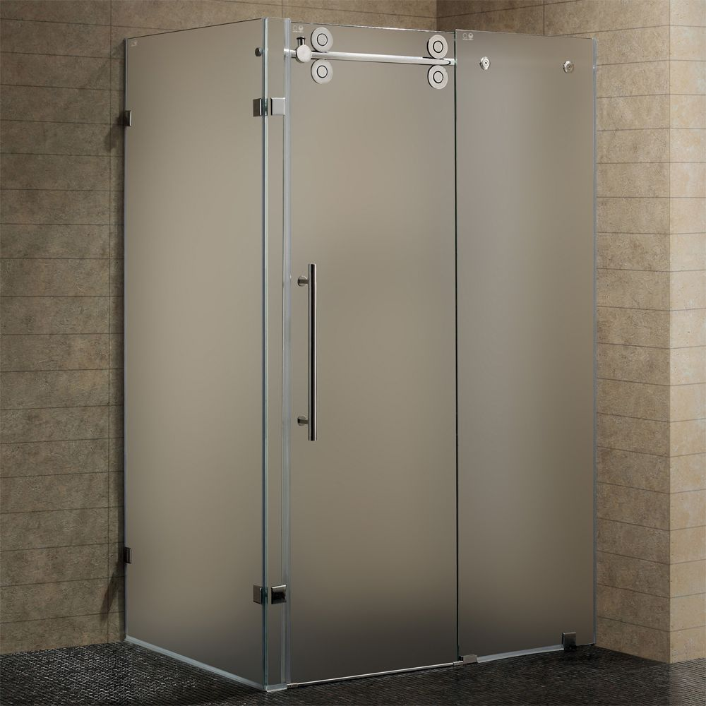Vigo Frameless Slider Shower Doors Glazzio Tile Pinterest