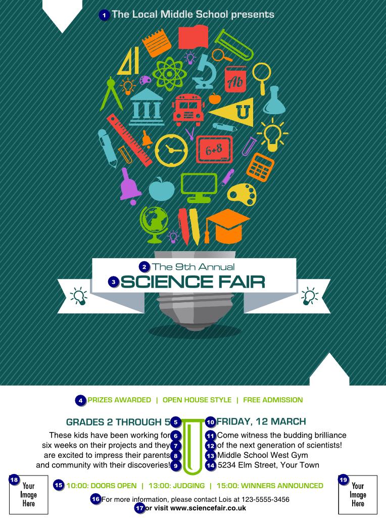 Science fair flyer science fair flyer ticket printing flyer design pinterest flyers for Science brochure templates