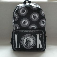 Retrato de últimos reis lk hiphop mochila saco de lona ocasional preto(China (Mainland))