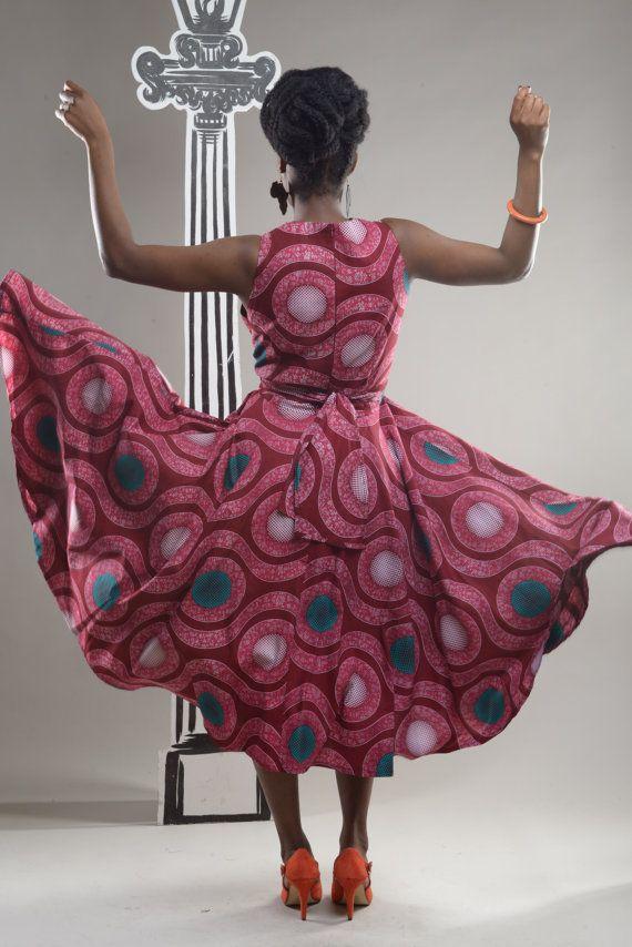 Robe par GITAS portail d'inspiration salsa imprimé par GitasPortal