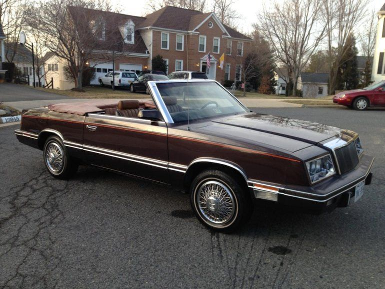 1982 Chrysler Lebaron Mark Cross Edition Convertible