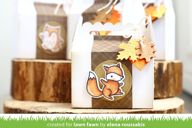 the Lawn Fawn blog: Lawn Fawn Intro: Scalloped Treat Box by Elena Roussakis.