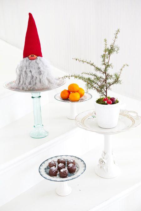 Hildas hem Återvunnet pyssel till jul Reuse old things - Christmas