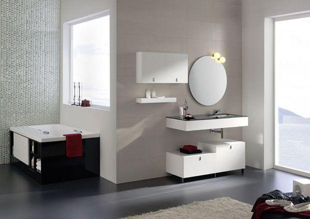 baños minimalista modernos pequeños colores - Buscar con Google