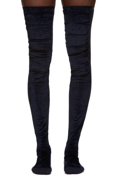 d4fb11ac13e0b Sacai - Navy Tall Velvet Socks | Sacai | Socks, Designer socks и ...