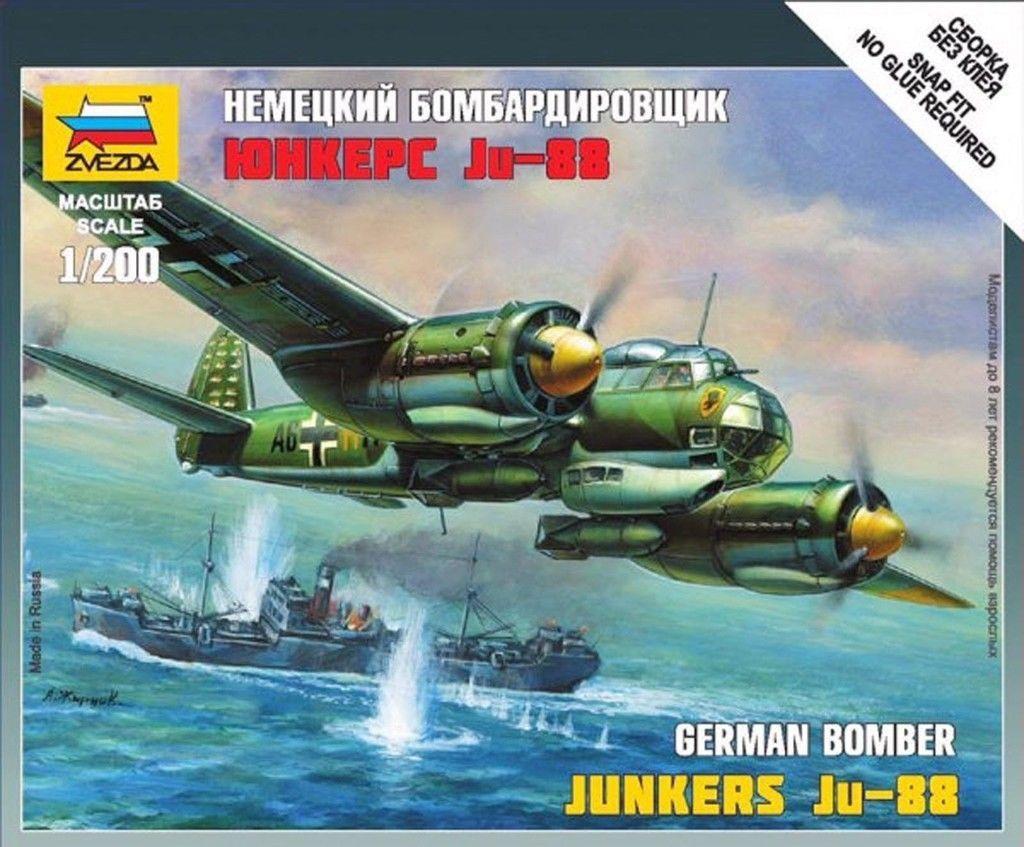 3 15 GBP - Zvezda German Junkers Ju-88 Bomber 1/200 Flames Of War