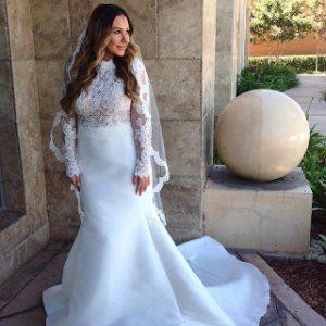 silk corset and lace jacket wedding separates  martina