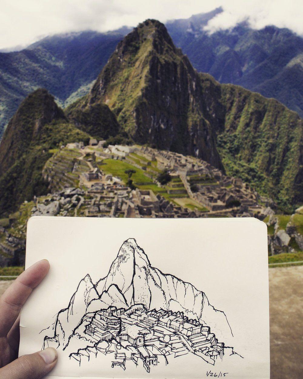 Image Result For Machu Picchu Illustration Machu Picchu Inca Trail Machu Picchu Machu Picchu Peru