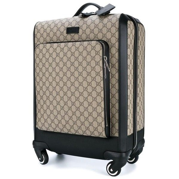Gucci Gucci Logo Print Trolley 2 225 Liked On Polyvore Featuring Bags And Luggage Luggage Bags Travel Designer Suitcases Cute Luggage