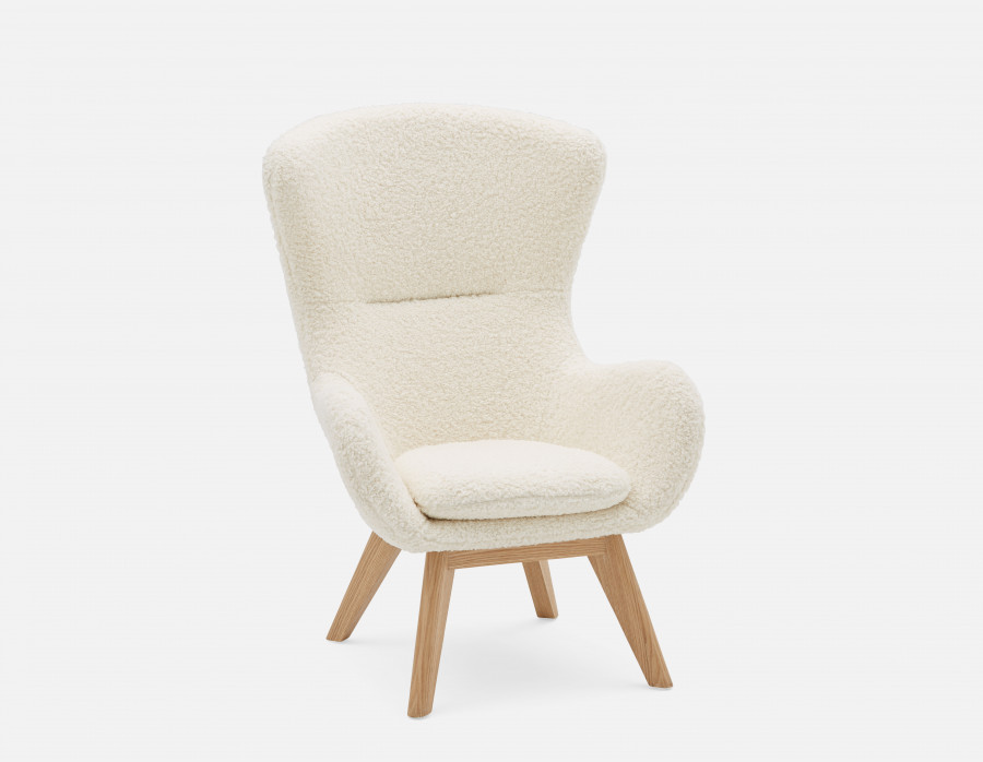 GHANA White Faux shearling armchair Structube in 2020