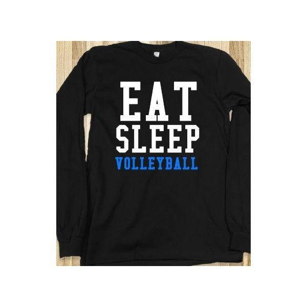 Eat Sleep Volleyball Long Sleeve Black Tee T Shirt Volleyball Volleyball Spandex Volleyball Shirts