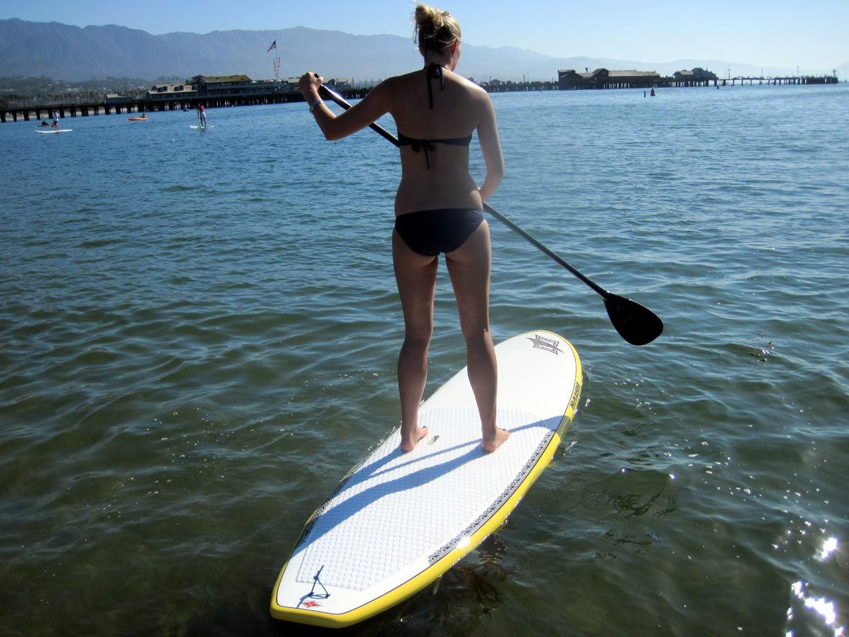 Santa Barbara flat water paddle... SUP Demos Surfboard