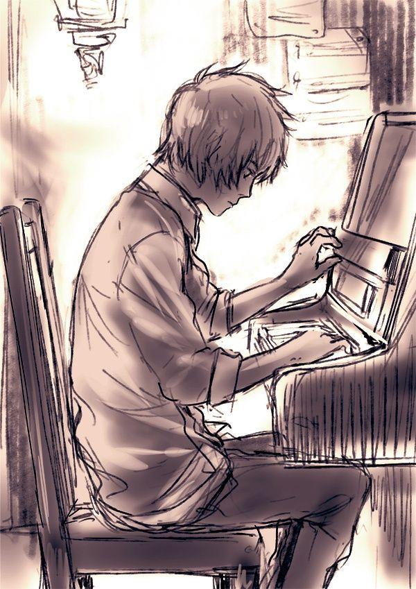 Dibujo De Pianista Art Dibujos A Lápiz Pianos Dibujo Y Cosas