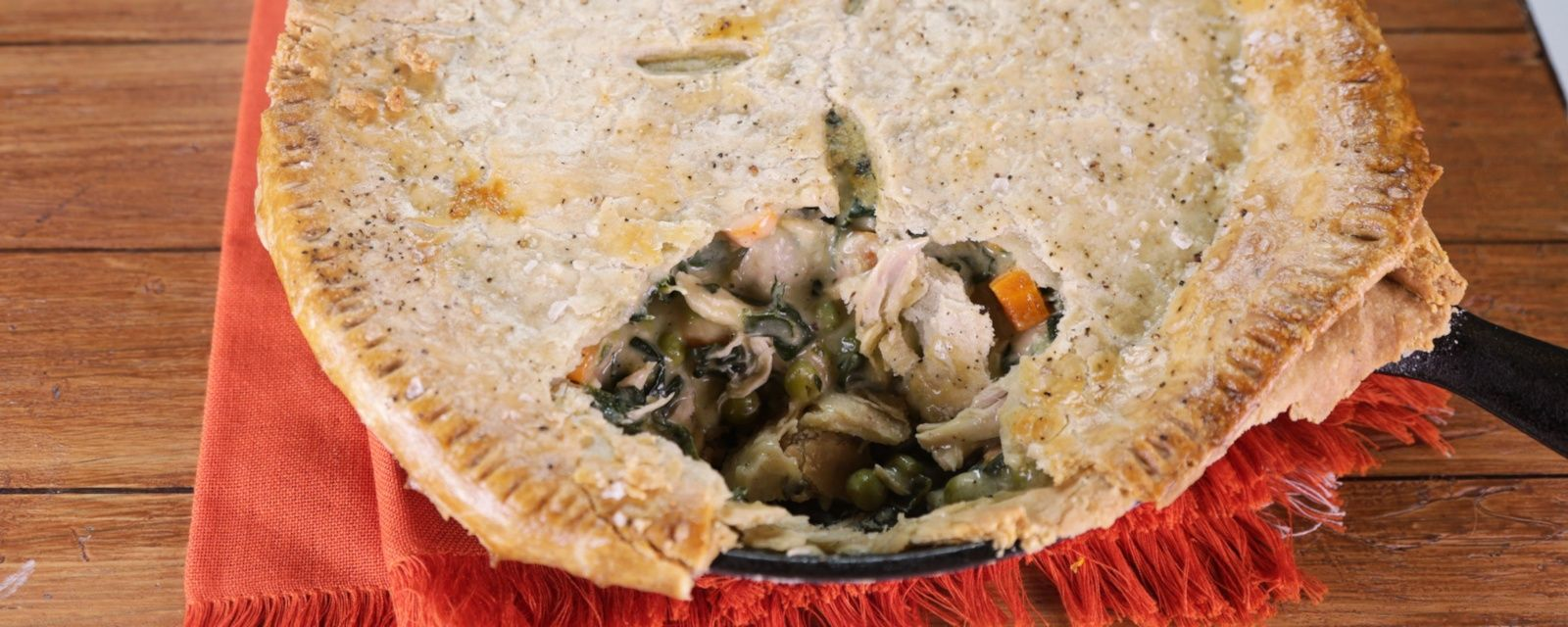 Add a little flare to your chicken pot pie with Clinton Kelly/s delicious salt and pepper crust!