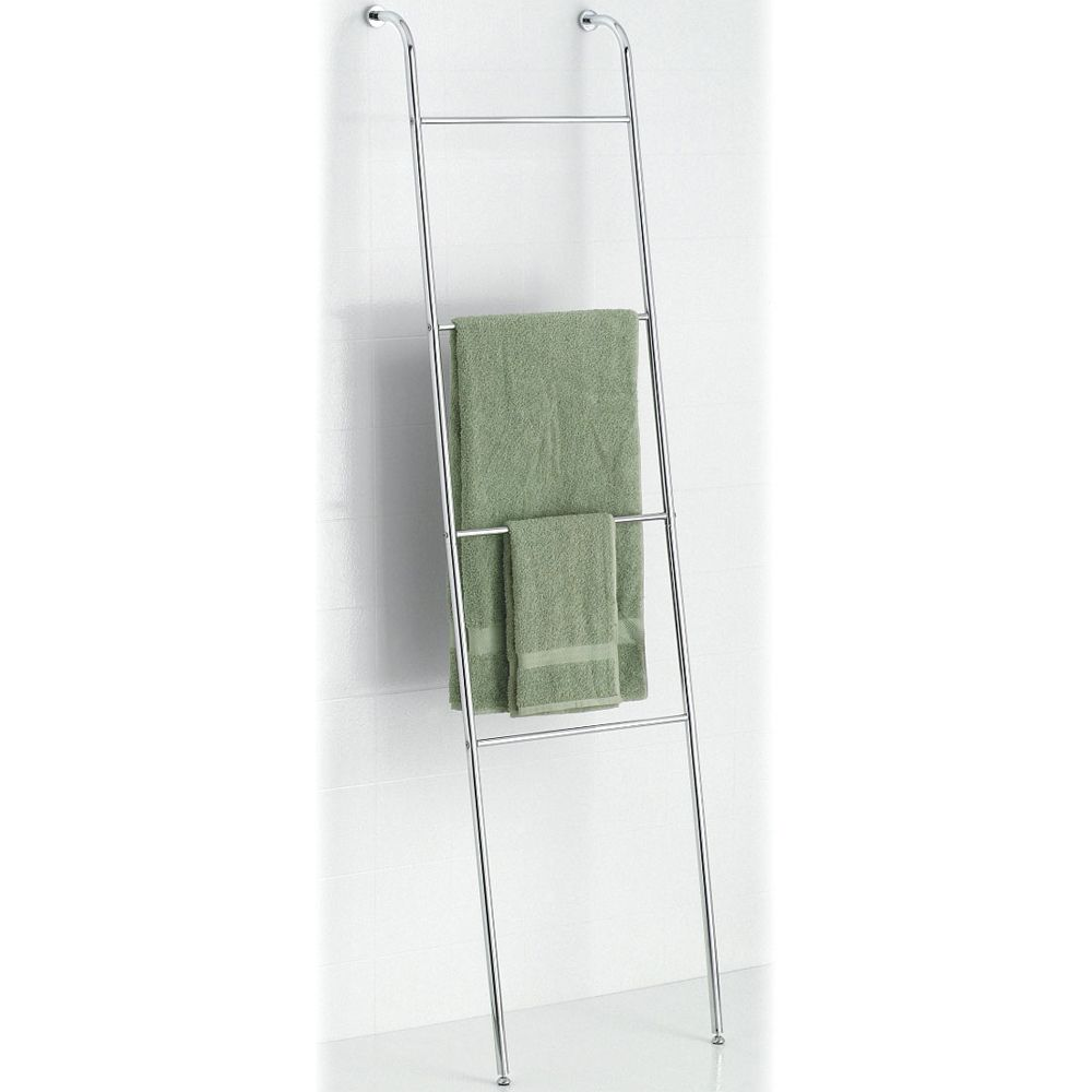 Leaning Towel Ladder Chrome Towel Rack Towel Ladder Freestanding Bathroom Shelves