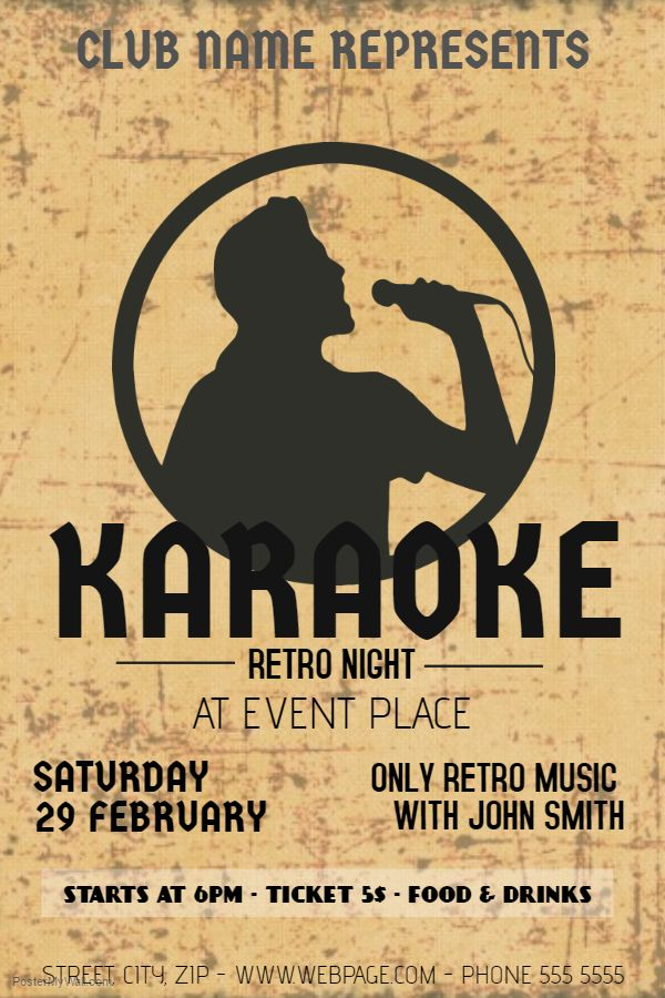 Retro Vintage Band Poster - Click on the image to customize on - band flyer template