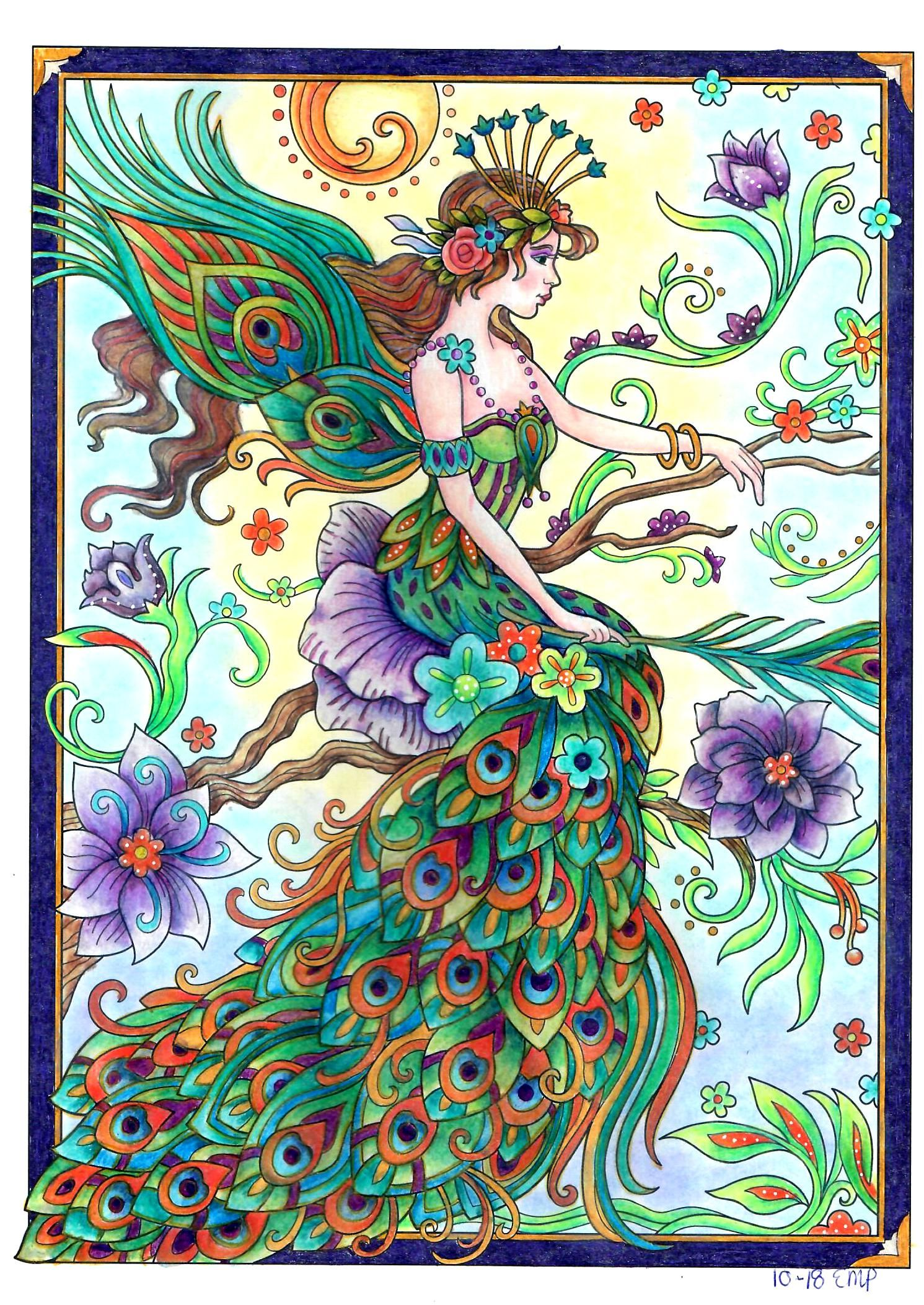 Colored By Erna From Marjorie Sarnat S Magical Fairies