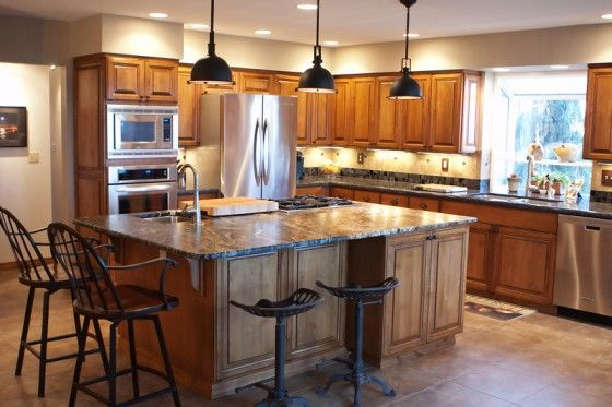 Ranch Style Home Kitchens | Tish and Jim Morford\'s new kitchen ...