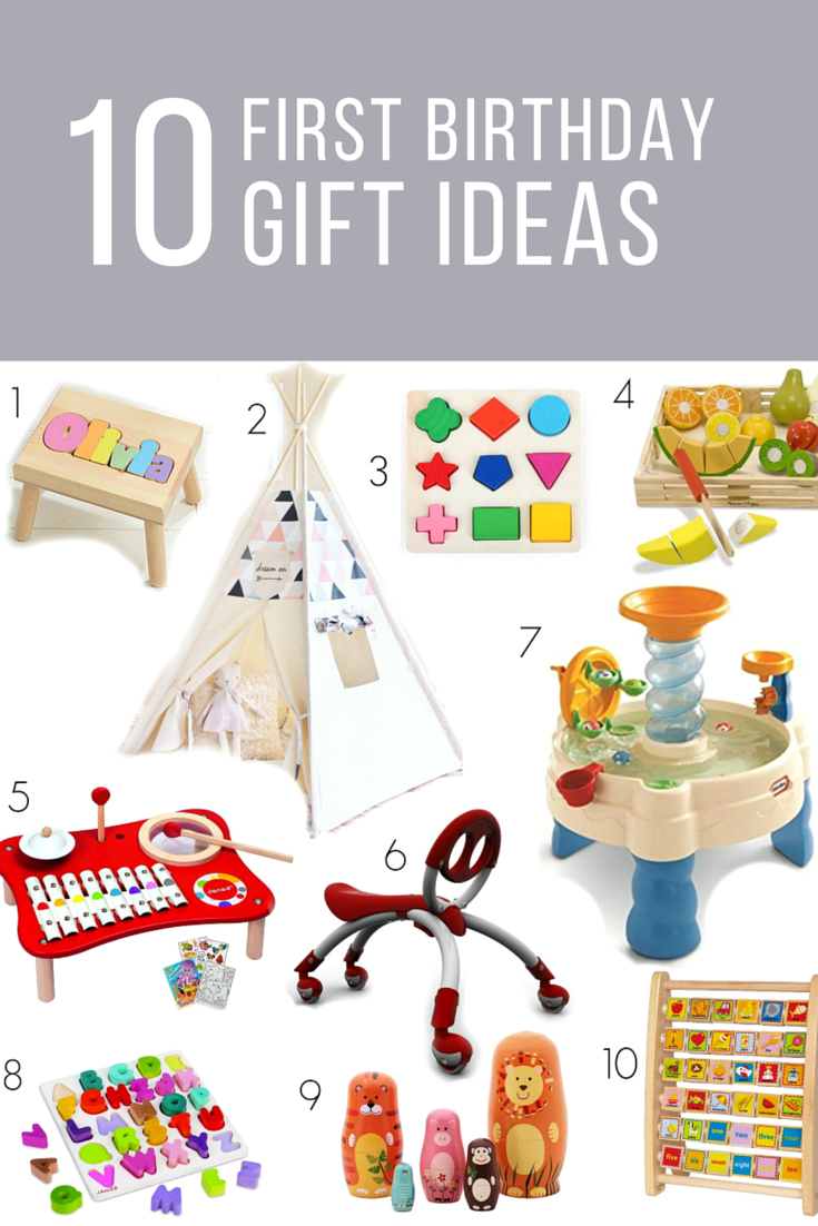 first birthday gift ideas for girls or boys birthday party
