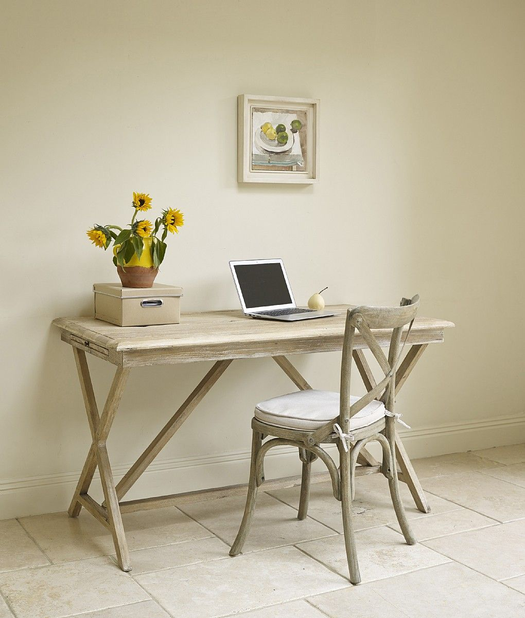A White Washed Desk Or Table Made From Reclaimed Elm Lombok A  # Muebles Timotea