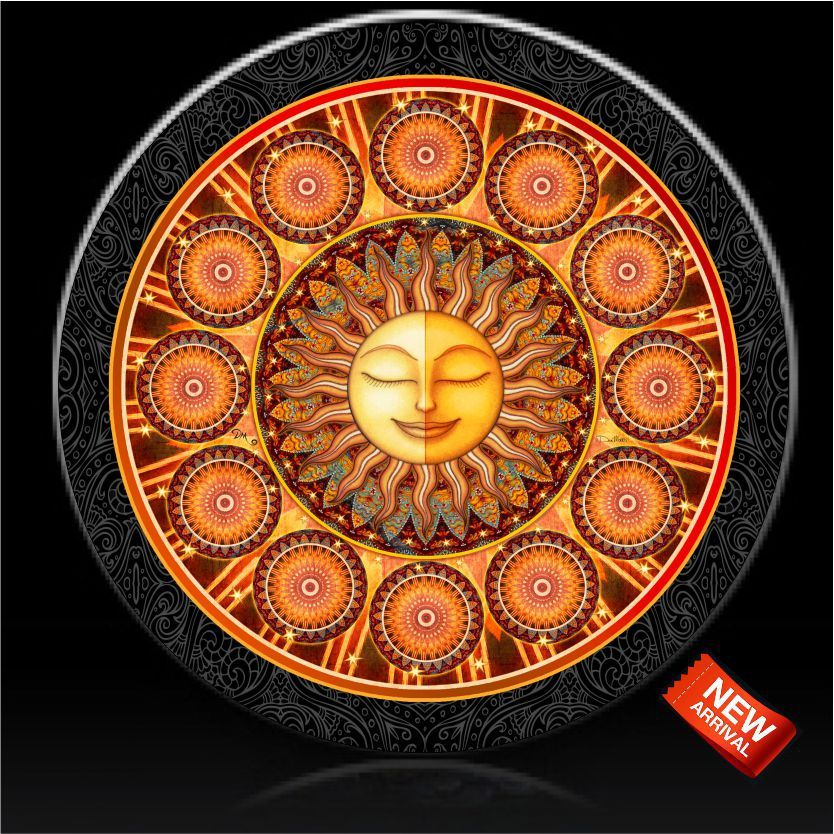 Bohemian Sun Spare Tire Cover Dan Morris C Custom Tire Covers