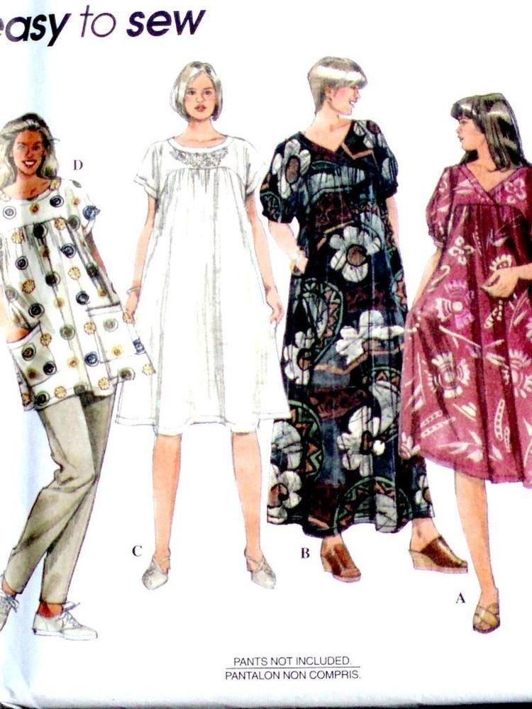 FAB HAWAIIAN MUU-MUU, CAFTAN, DRESS TUNIC TOP Womens Sewing Pattern ...