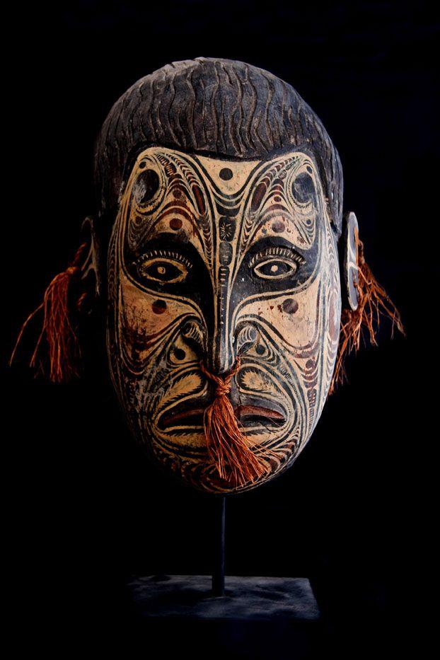 Pottery Dashing 2 Antique Masks Master Robert Artist Sculpture Art Craft Rare N.s Art