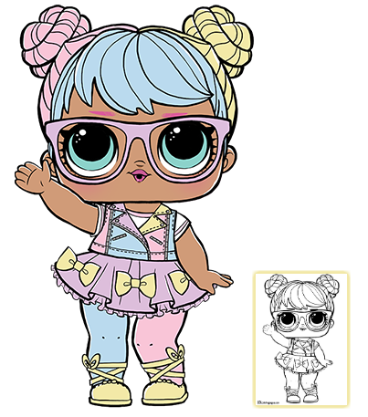 Lol Surprise Doll Coloring Pages Page 4 Color Your Favorite Lol Surprise Doll Lol Dolls Coloring Pages Cute Drawings