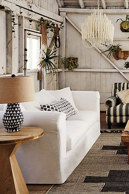 Linen Novalie Slipcover Sofa Anthropologie Com