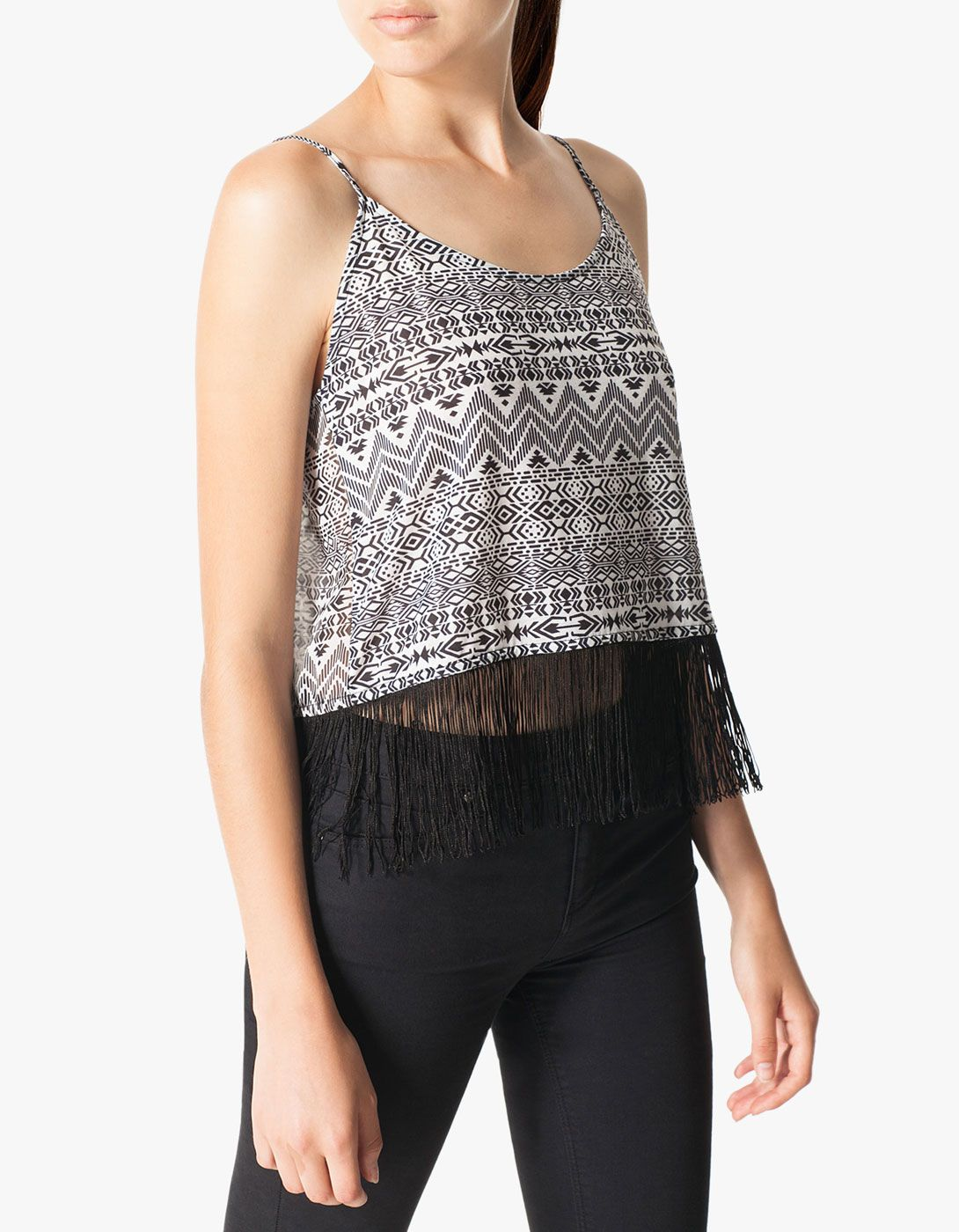 Ethnic top with fringing detail