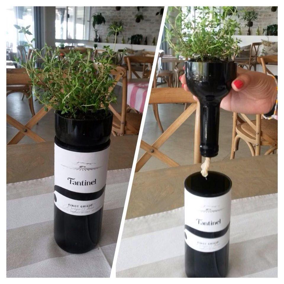 Recycling a bottle of #Fantinel #BorgoTesis #PinotGrigio at Il Localino in #Johannesburg. #PerfectCut #wine #ItalianArt